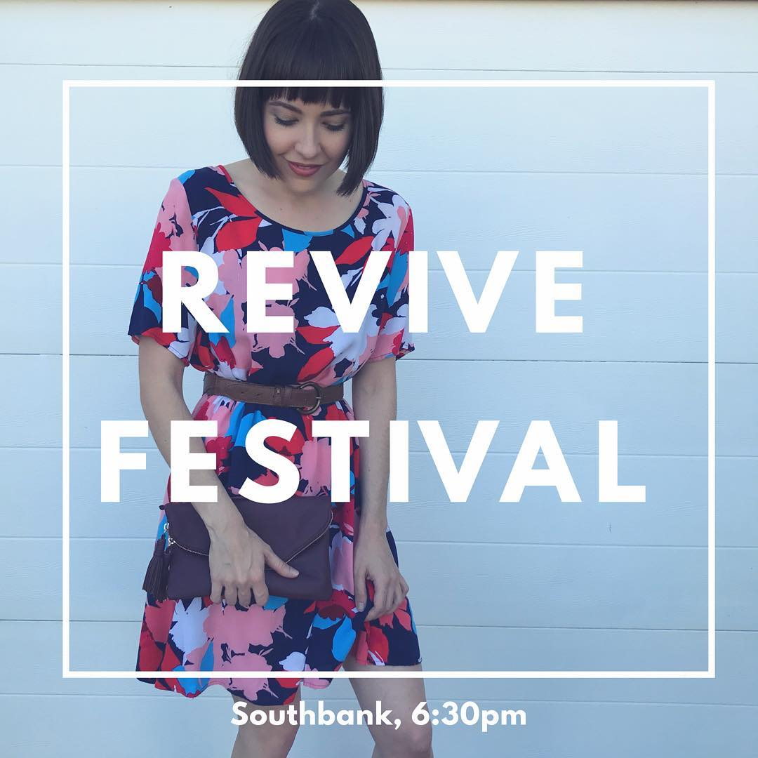 Join me tomorrow night (Friday) at the @brisbanecitycouncil REVIVE pop-up second hand Festival at Southbank! The event runs from 12pm - 9pm and is packed with thrift stalls, food trucks, workshops and live entertainment. I'll be sharing my story at 6:30pm at the speakers tent, and will continue on to join a panel at 7pm alongside my pal @nevereverpayretail Hope to meet you there ♥️