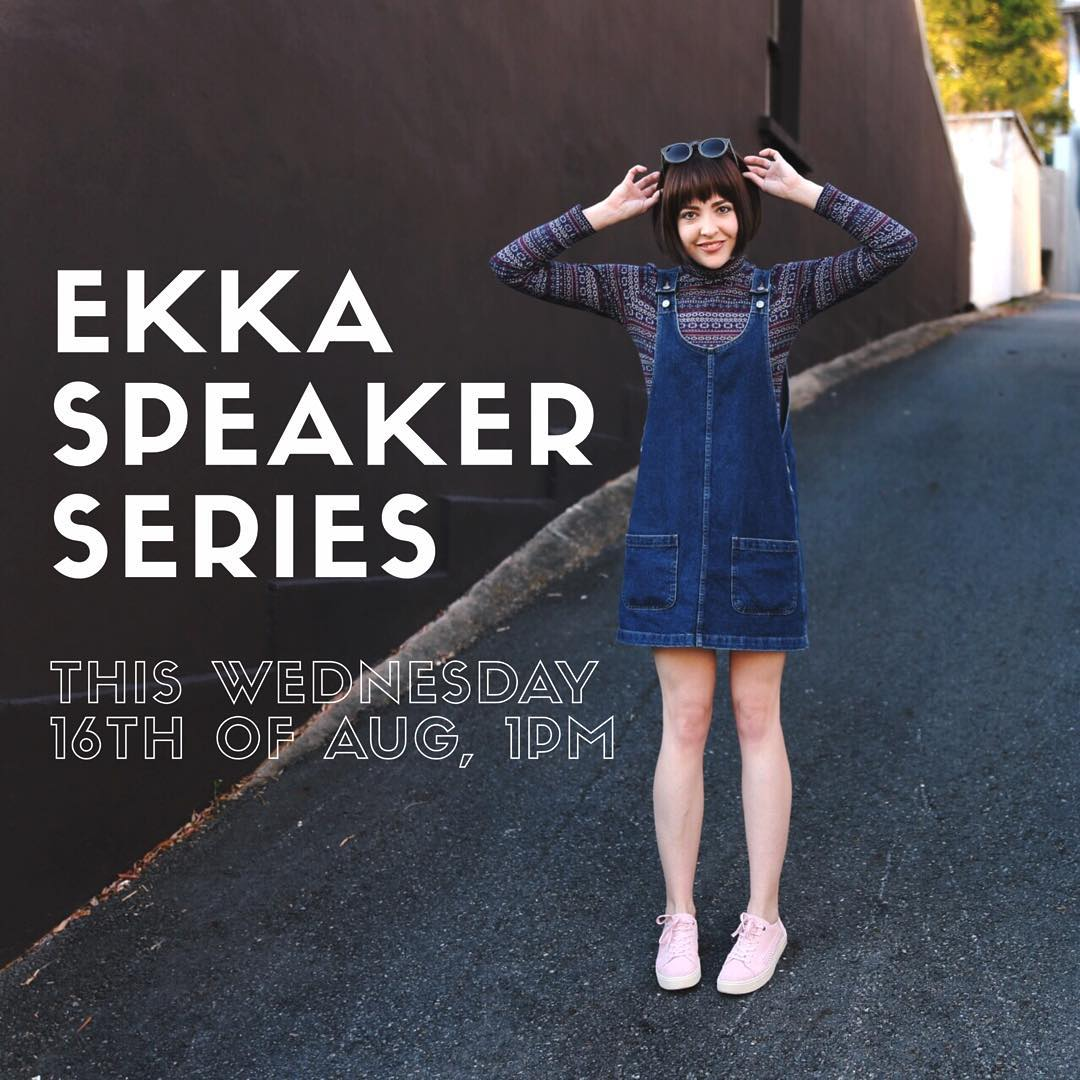 Come hear me chat all things sustainable fashion at @theekka this Wednesday!! I'm so excited to share the stage with fellow slow fashion advocate @textilebeat